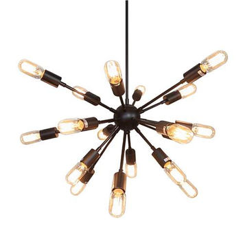 LNC Spunik Chandeliers, Steampunk Industrial Lamp Pendant Lighting for Living Room
