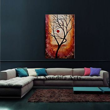 PAINTING, Landscape Art Abstract Painting Modern FINE Art Large Wall Art on Canvas Art by Nandita Albright
