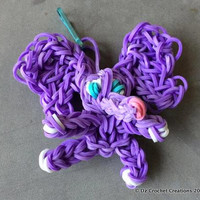 Elephant - Charm - Rainbow loom Charm - Zipper Pull - Rainbow Loom Zipper Pull - Elephant Charm - Bands - Rubber Band Charm - Elephant