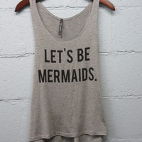 Let's Be Mermaids Tank **PREORDER - ships 3/16/15**