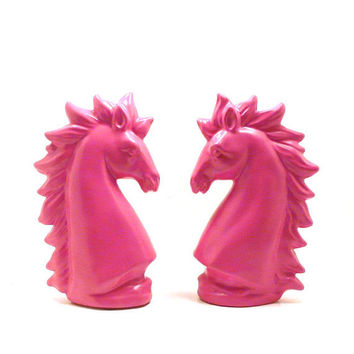 Pink Unicorns Unicorn Ceramic Figurines Pink Decor Mythi