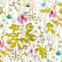Liberty Tana Lawn Fabric, Liberty Japan, Colorful Natural Irma Pattern, Liberty Print Cotton Scrap, Quilting, Floral Flower - NT14KAW03F