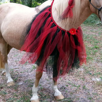 Horse Tutu - Equine Costume - Halloween Costume for Horses Evil Princess Ballerina Gothic Witch Flamenco Dancer Costume