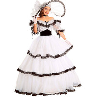 southern belle costume victorian dress costume adult halloween costumes for women white civil war gown ball lolita dress custom Alternative Measures - Brides & Bridesmaids - Wedding, Bridal, Prom, Formal Gown