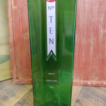 25 Ounce Pure Soy Candle in Reclaimed Tanqueray Ten Gin Liquor Bottle - Your Choice of Scent