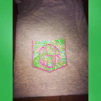 Lilly Pulitzer pocket tee