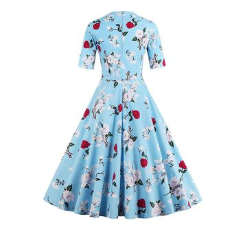 Chicloth Greatest Love Pale Blue Floral Dress