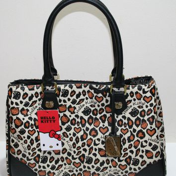 Licensed cool NEW Hello Kitty HandBag Purse Faux Leather Leopard Animal San Rio/Loungefly NWT