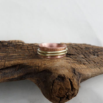 Women's Ring, Spinner Ring, Copper Spinner Ring, Thumb Ring, Women's Copper Ring, Women's Spinner Ring