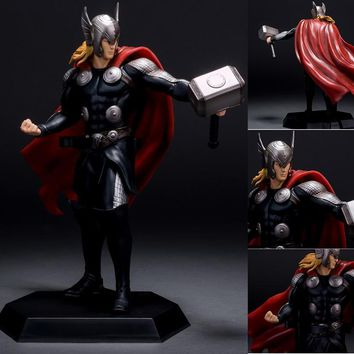 Crazy Toys The Avengers Super Heroes Thor Action Figure Thor in Rrd Cape Toy 23cm