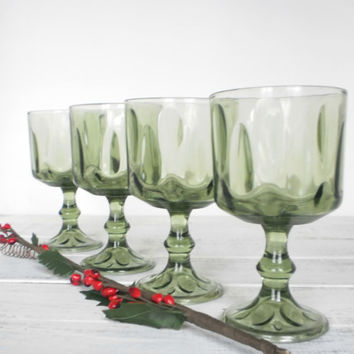 Stemmed Glasses Holiday Green Christmas by RhettDidntGiveADamn