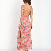 For Love & Lemons Mai Tai Maxi Dress Red Orchid D1314RP - Free Shipping at Largo Drive