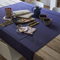Slow Life Cobalt Table Linens by Le Jacquard Français