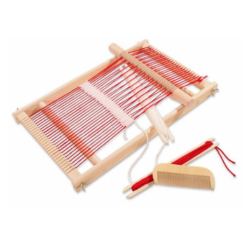 Baby Toys Pretend Play Toys Wooden Traditional Weaving Loom Childrens Wooden Toy Educational Gift Craft Wooden Weaving Frame