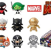 Marvel 3D Figural Keychain Marvel Secret Wars Mini Figure Keyring Mystery Box