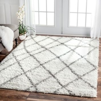 nuLOOM Soft and Plush Moroccan Trellis or Diamond Shag Rug (8' x 10') | Overstock.com Shopping - The Best Deals on 7x9 - 10x14 Rugs