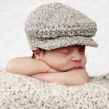 Baby Boy Hat Baby Hat Newborn Hat Gray Hat Infant Baby Donegal Hat Newborn Baby Shower Gift Photo Prop Irish Donegal Cap Baby Boy Clothes