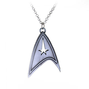Star Trek Necklace bronze silver plated Pendant jewelry
