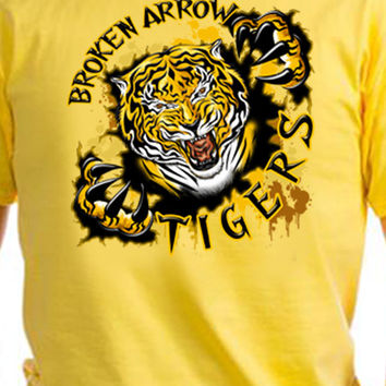 Broken Arrow Tigers Rip T-Shirt
