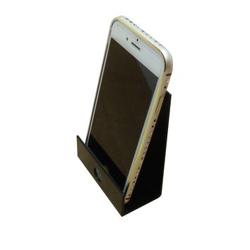 """Cellphone Display Holder 3x5x1.7"""" Wide Easel Aluminum Stand Wall Mount Hook 16737"""