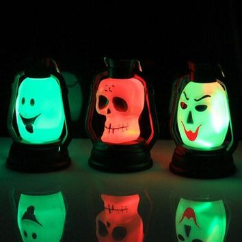 CREY6F New Halloween Costumes Product 1 PC LED Pumpkin Skull Hanging Light Lamp Kerosene Halloween Party Decor Halloween Supplies Hot