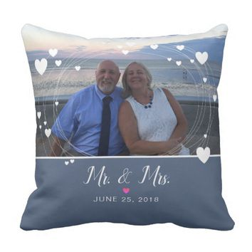Mr & Mrs Keepsake Wedding Pillow