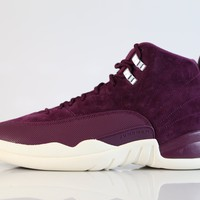 BC SPBEST Nike Air Jordan Retro 12 Suede Bordeaux Suede Sail 130690-617 (NO Codes)