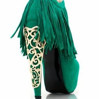 fringe-booties BLACK GREEN ROYAL - GoJane.com
