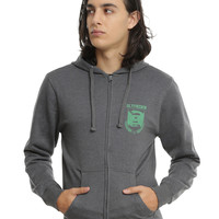 Harry Potter Slytherin Quidditch Zipper Hoodie
