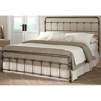 Union Square Carbon Steel Folding Bed Frame with Headboard & Footboard