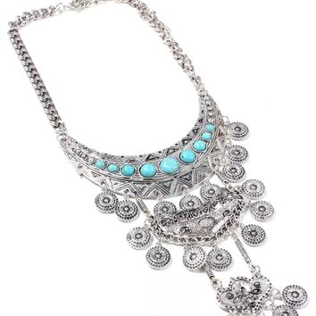 Tiered Medallion Necklace