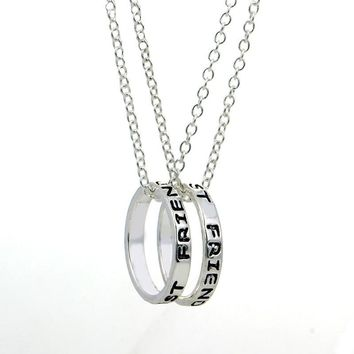 2016 hot sale  jewelry simple dipped best friends forever necklace set pendant friendship top gift chain party 2 3 pcs/set