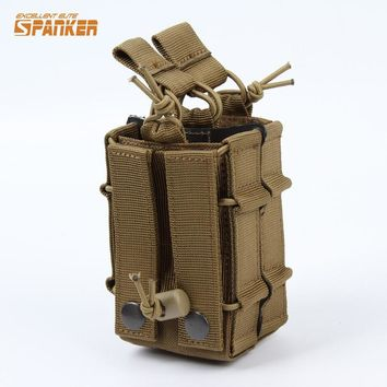 Military Tactical M4 Dual Rifle Magazine Pouch 5.56MM Multicam Molle Mag Shotgun Ammo Case Hunting Airsoftsports Paintball Gear