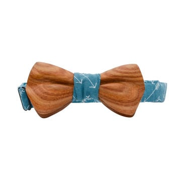 The Bristol Canary Wooden Bowtie | Teal Arrow