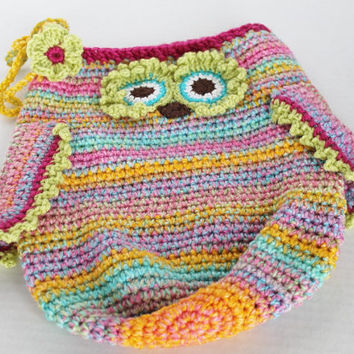 Baby Cocoon with Flower Headband -Owl - Bright Multi