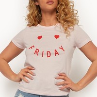Friday & Hearts Graphic Tee