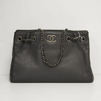 Chanel Black Shopping Tote
