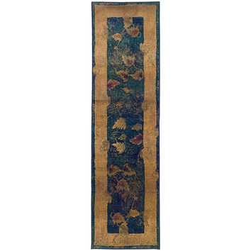 Oriental Weavers Kharma 349B4 Blue/Gold Border Area Rug