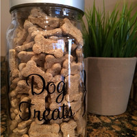 Dog Treats Canister Label
