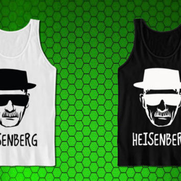 Breaking Bad the main character adopts a moniker Heisenberg and is on the brink of making a lot of money tank top