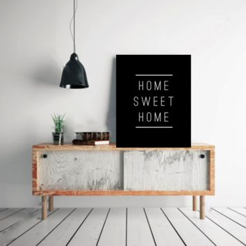 "Typography Quote Poster ""Home Sweet Home"" Home Dorm Living Room Decor [UNFRAMED]"