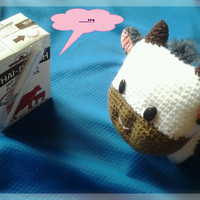 Free shipping, Little cow amigurumi