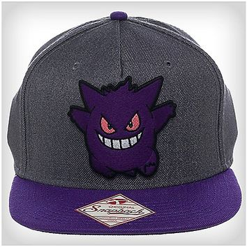 Pokemon Gengar 3d Snapback Hat - Spencer's