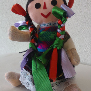 Mexican Rag Doll, Indigenous Rag and Ribbons doll