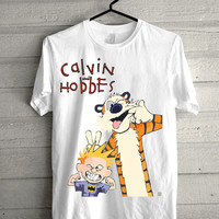 calvin and hobb Screen print Funny shirt for t shirt mens and t shirt girl size s, m, l, xl, xxl