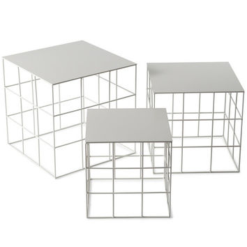 Reton Square Side Table Set - A+R Store