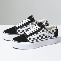 Checkerboard Old Skool Platform | Shop At Vans