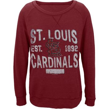 St. Louis Cardinals - Distressed Logo Juniors Wide-Neck Longsleeve