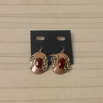 Ruby Tribal Earrings