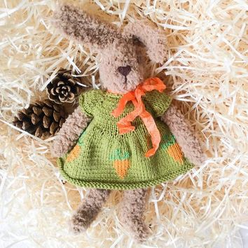 Amigurumi rabbit Soft baby doll Plushie toy Toddler toy Crochet bunny Soft Crochet toy